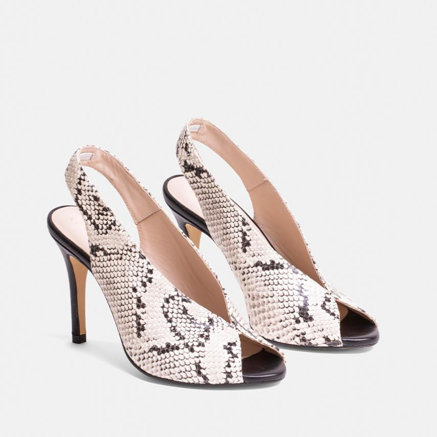 SANDALIA FIESTA ANIMAL PRINT BLANCO - BEVERLY