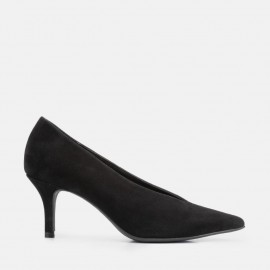 BLACK SUEDE STILETTO - CAROL