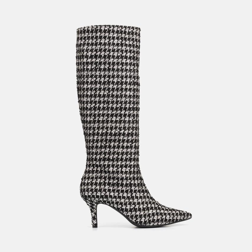 TWEED FABRIC BOOT- CATHY