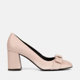 NUDE LEATHER PUMP - CARMELA