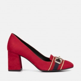 RED SUEDE PUMP - CIARA