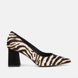 ZEBRA ANIMAL PRINT LEATHER PUMP - CALA