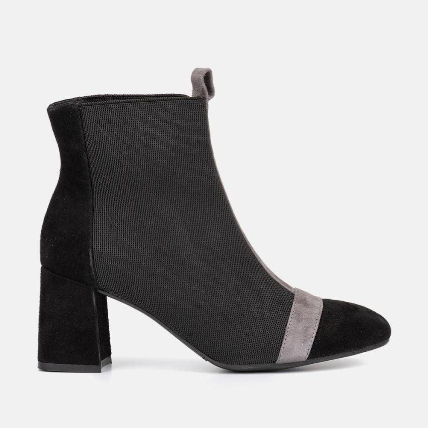 BLACK SUEDE ANKLE BOOT - COLETTE