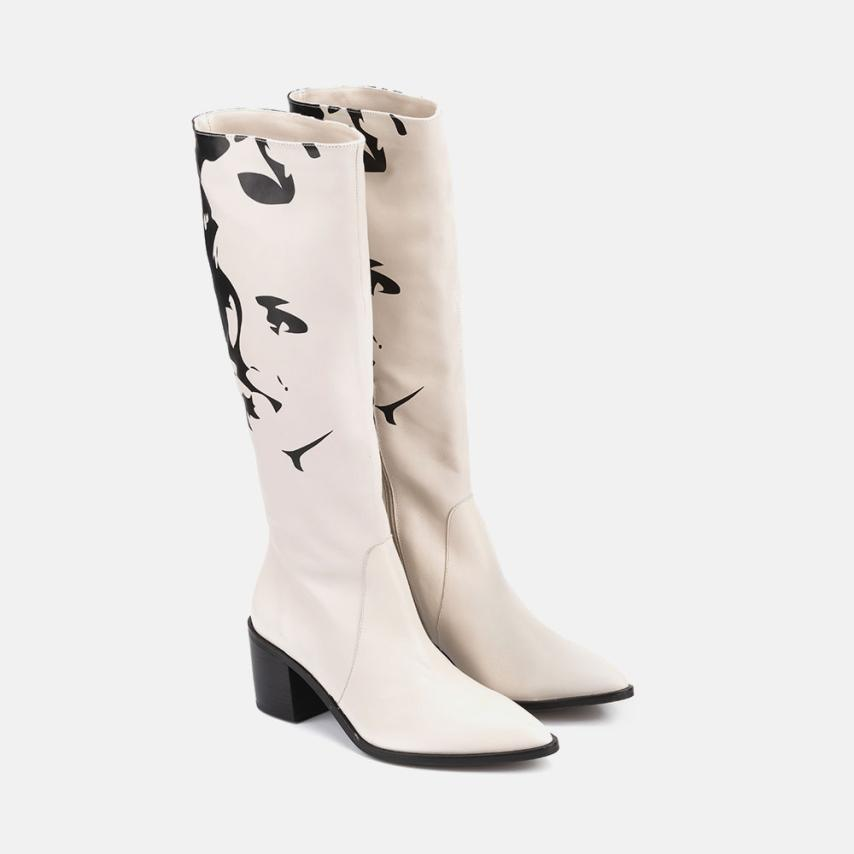 BOTTE - PEAU BEIGE - MARILYN