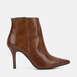 ANIMAL PRINT LEATHER ANKLE BOOT - CARLOTA