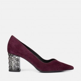 BURGUNDY SUEDE STILETTO - CLARISA