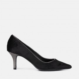 BLACK SUEDE STILETTO - CALA