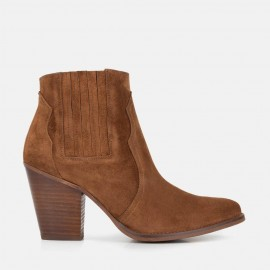 COWBOY SUEDE ANKLE BOOT -  CHARLOTTE