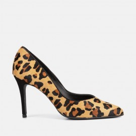 ANIMAL PRINT LEATHER STILETTO - CLEO