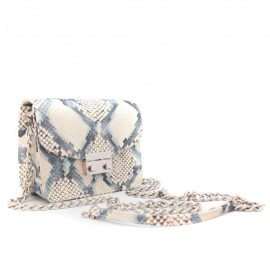 BOLSO CUADRADO ANIMAL PRINT BLUE